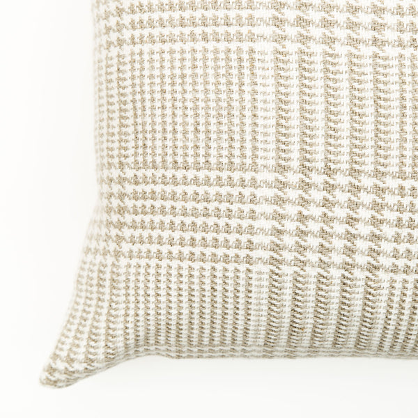Mix Weave Large Natural Linen Cushion