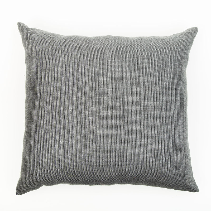 Slate Colour Large Natural Linen Cushion