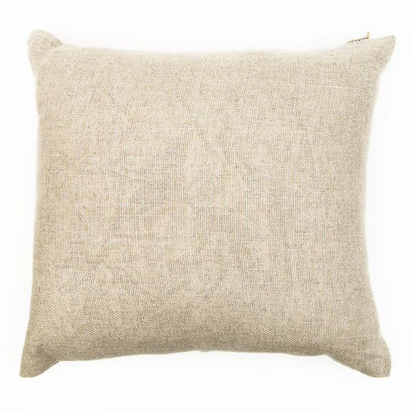 Oat Colour Large Natural Linen Cushion