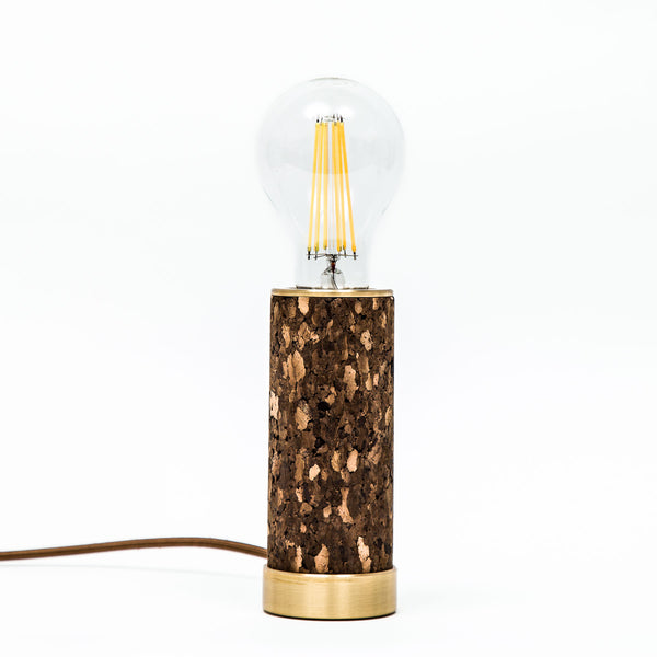 Dark Cork & Brass Desk Pillar
