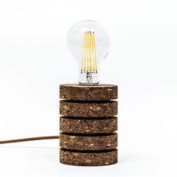 Dark Cork & Brass Desk Stack