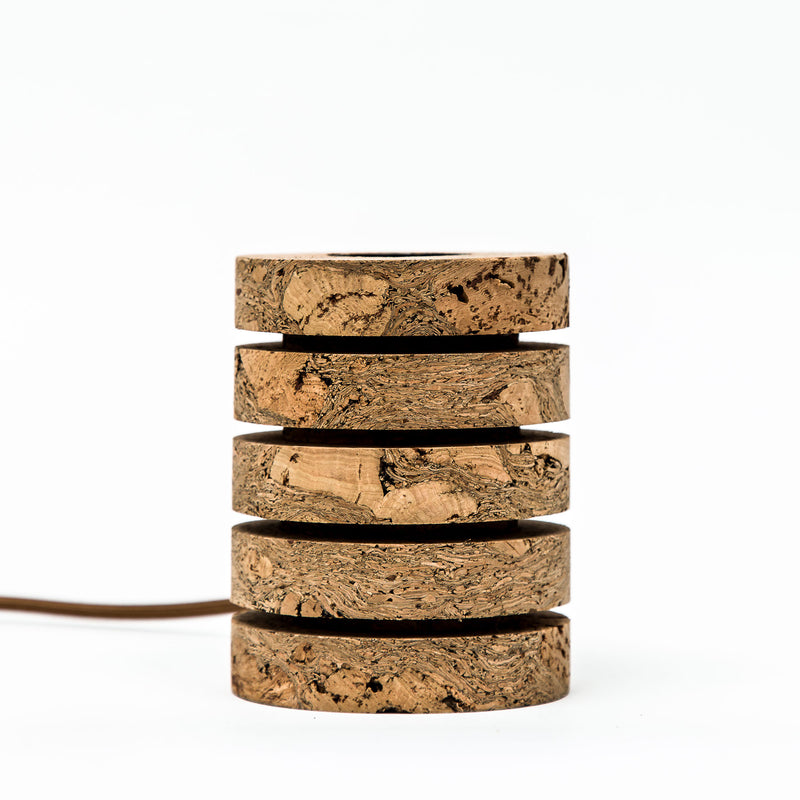 Natural Cork & Brass Desk Stack