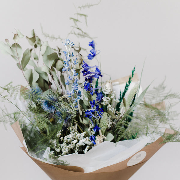 Blue Manhattan Luxury Dried Flower Bouquet