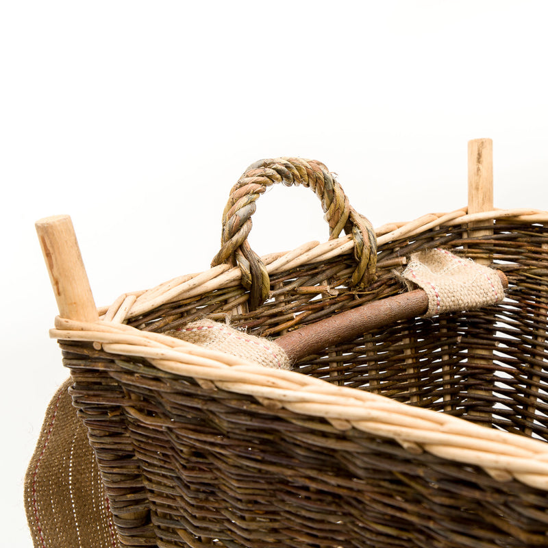 Large Back Pack Basket In French Green Willow