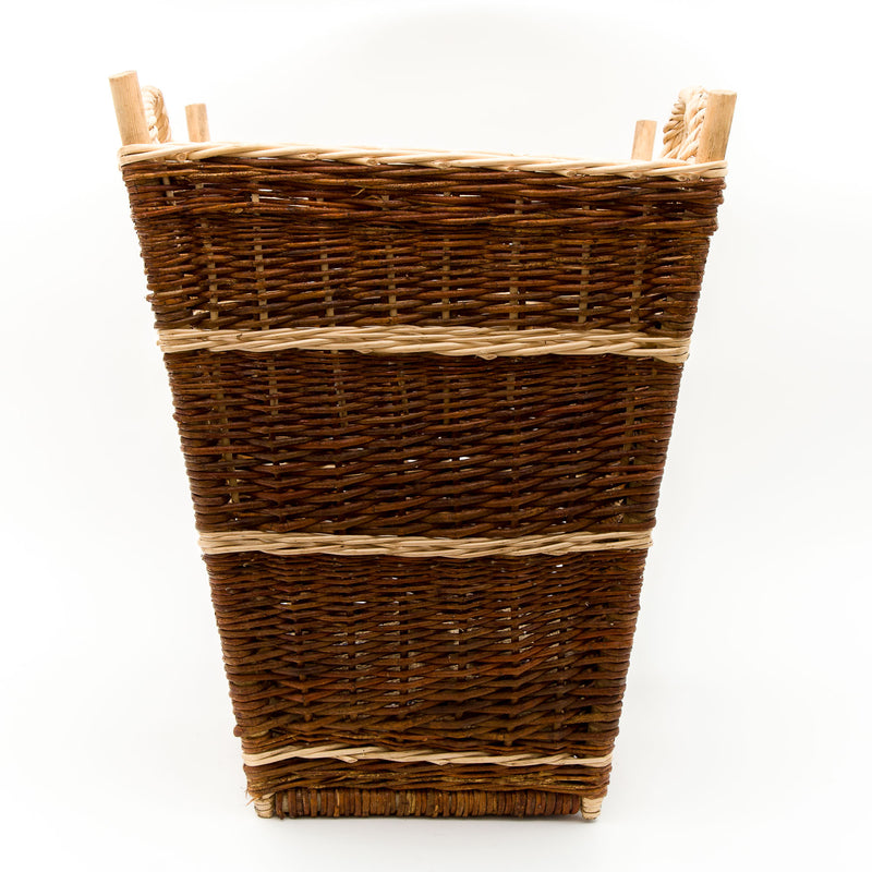 Large Back Pack Basket In Burnt Red Willow