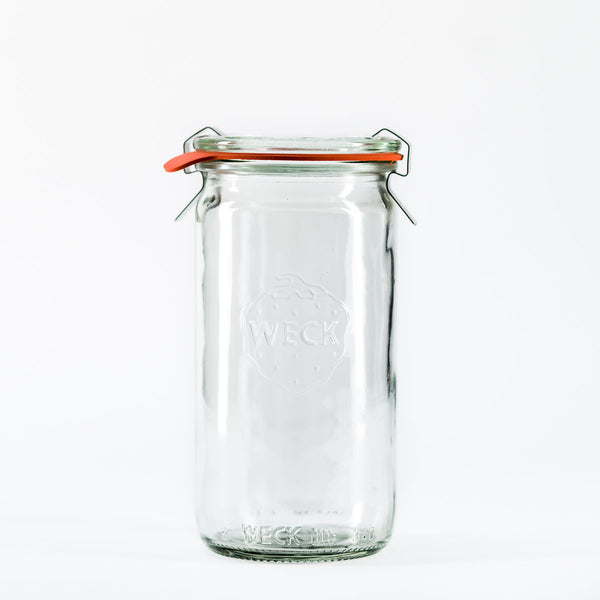 11.5oz Twin Pack Tall Weck Jar With Seal & Clips