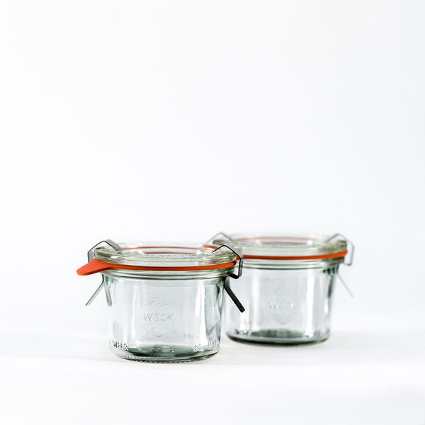 2.8oz Twin Pack Weck Jar With Seal & Clips