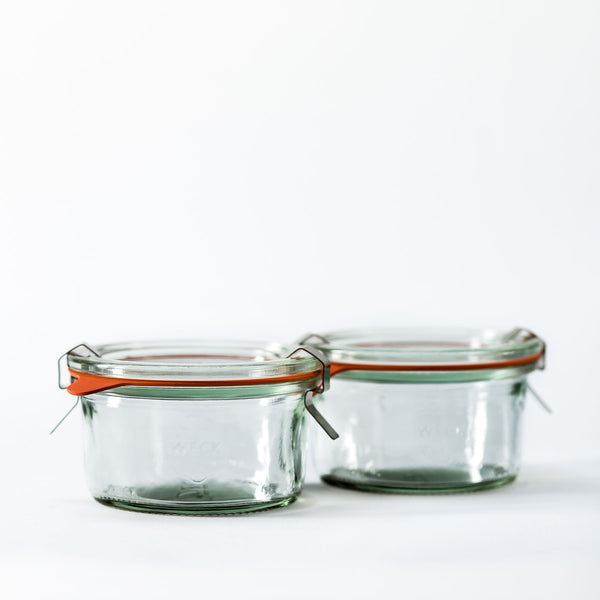 5.6oz Twin Pack Weck Jar With Seal & Clips