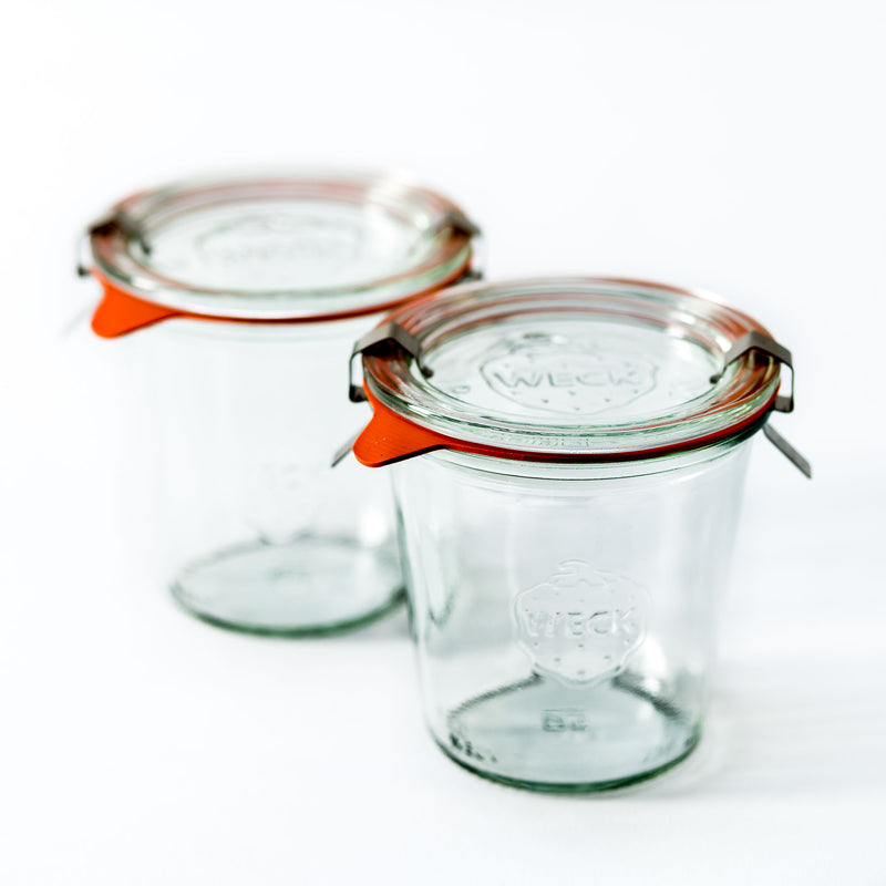 10.2oz Twin Pack Weck Jar With Seal & Clips