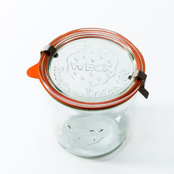 20.4oz Weck Jar With Seal & Clips