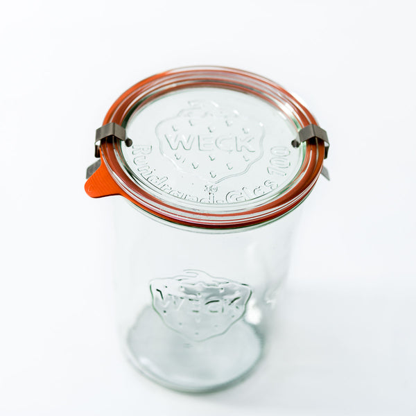 28.8oz Large Weck Jar With Seal & Clips
