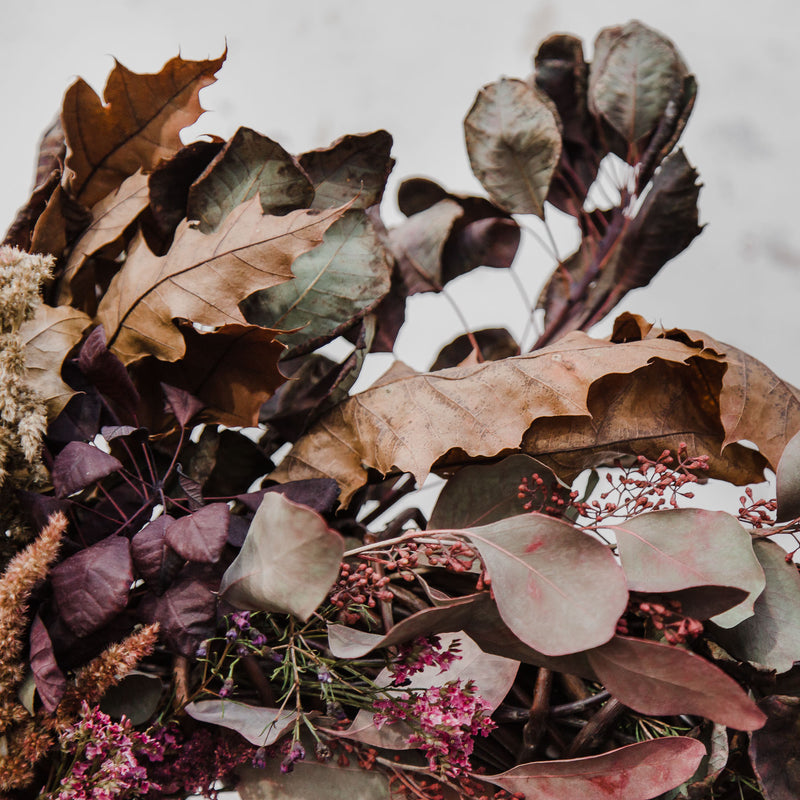 Wild Pampas, Rust & Bramble Dried Floral Wreath