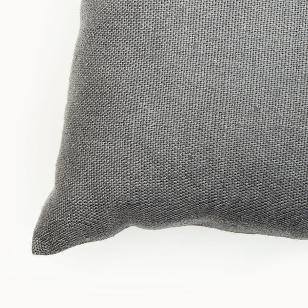 Slate Colour Small Natural Linen Cushion