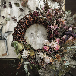 Dried Flower Seasonal Wreath Making Workshop - Saturday 7th December