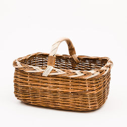 Short Handled Copper Willow Shopper - Handmade Willow Basket