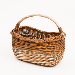 Long Handled Copper Willow Fade Shopper - Handmade Willow Basket