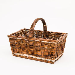 Straight Up Copper Willow Shopper - Handmade Willow Basket