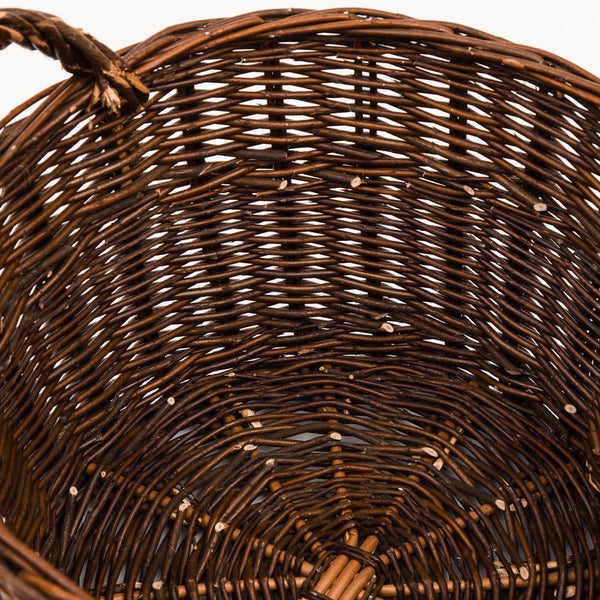 Traditional Kindling Wood Basket - Handmade Willow Basket