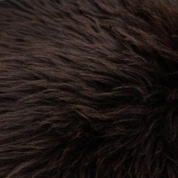 Long Haired Brown Natural Sheep Skin