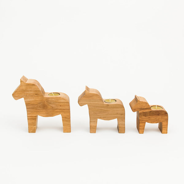 Small Dala Horse Candle Holder