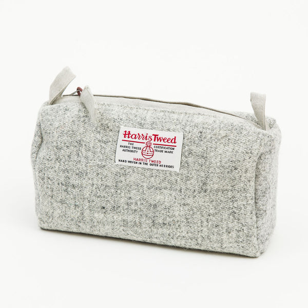 Harris Tweed Wash Bag in Grey