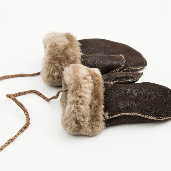 Childs Mountain Leather Mittens