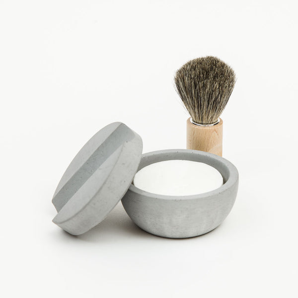 Light Shaving Bowl with Natural Soap