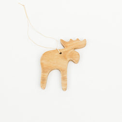 Wooden Moose Decoration