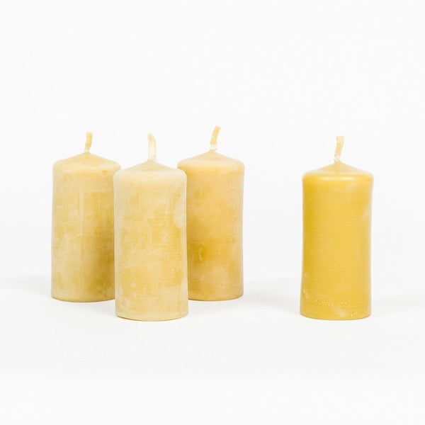 Beeswax Stubby Candles - Beeswax Candle - shop online uk | Travelling Basket