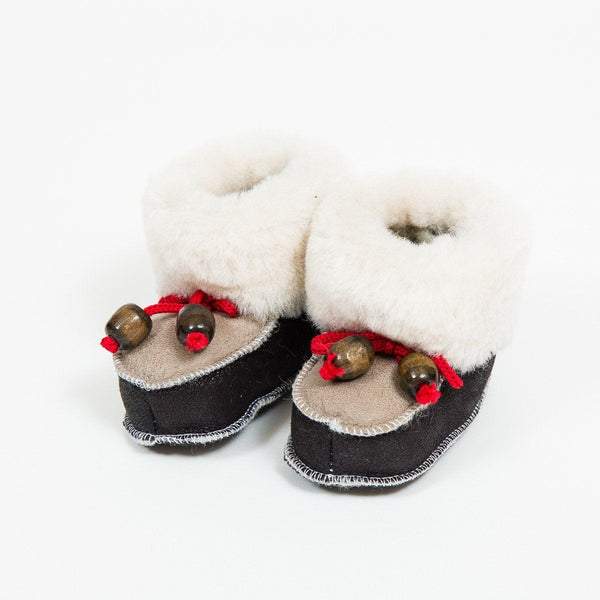 Childs Leather Boots - Woollen - shop online uk | Travelling Basket
