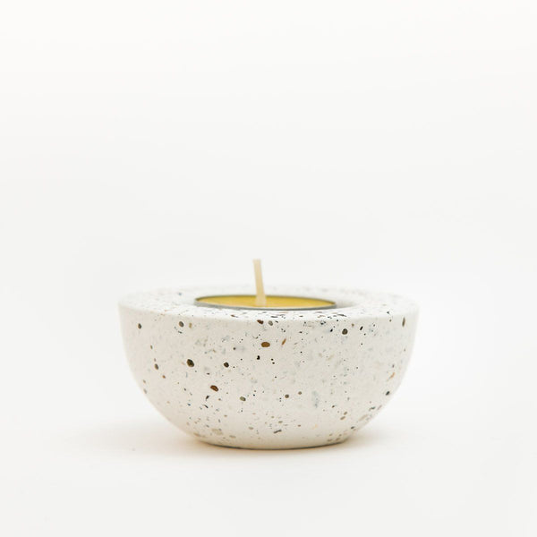 Concrete Tea Light Holder - garden - shop online uk | Travelling Basket