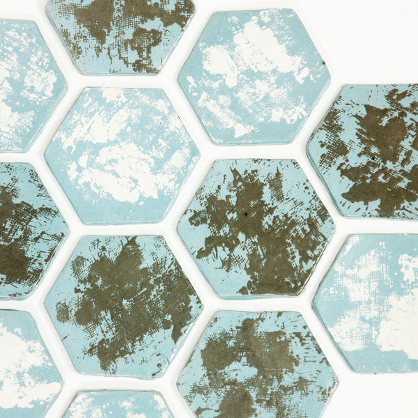 Honeycomb Coasters - Ceramic - shop online uk | Travelling Basket