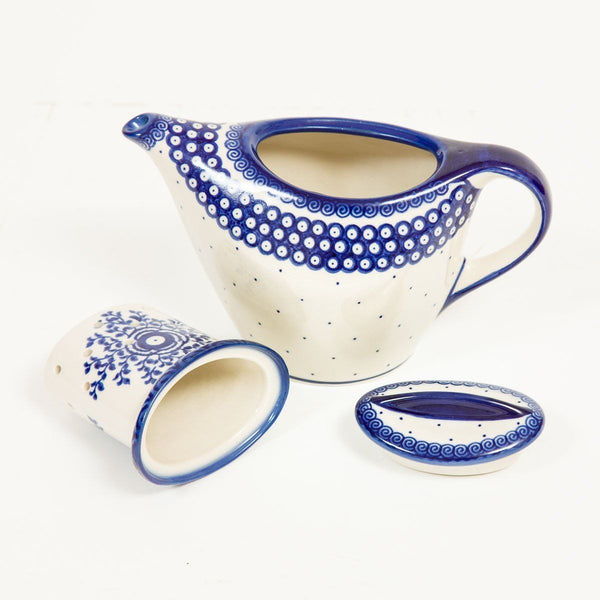 Personal Loose Leaf Teapot - Polish Pottery | Travelling Basket