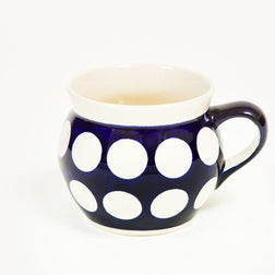 Polka Porringer Mug - Polish Pottery | Travelling Basket