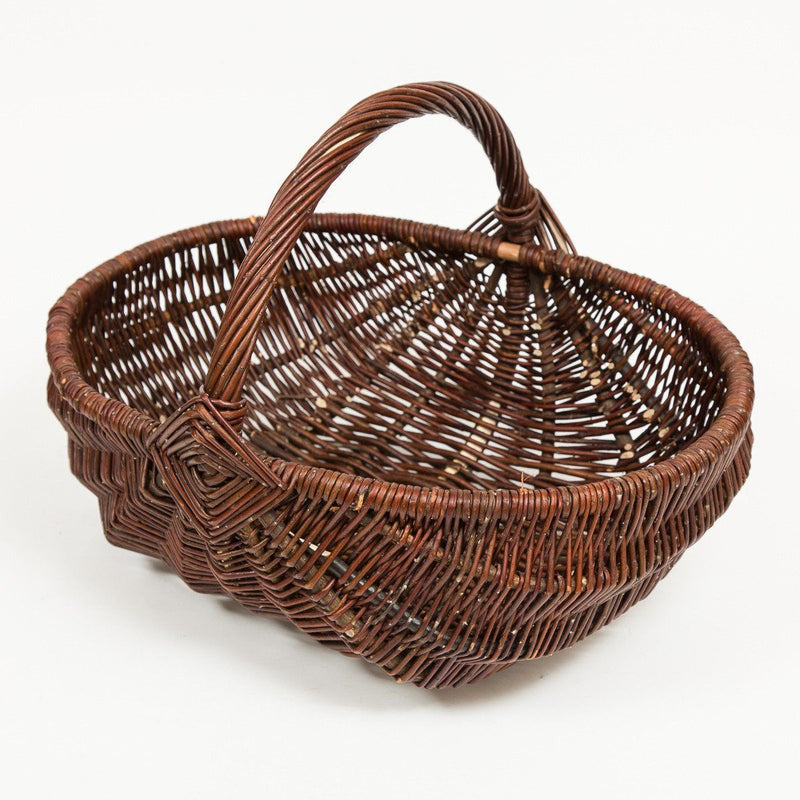 Diamond Handled Frame Trug - Handmade Willow Basket