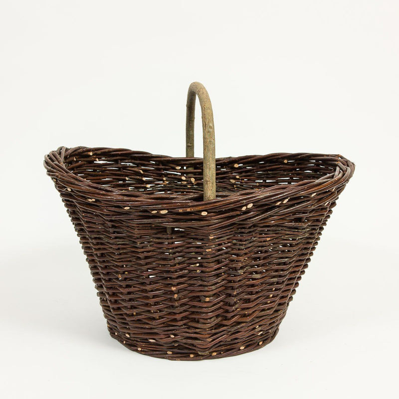 Elegant Trug Basket - Handmade Willow Basket