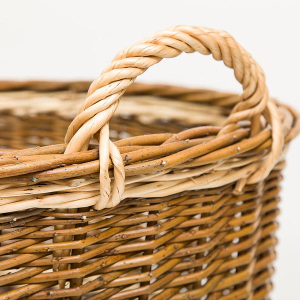 Green Willow Log Basket - Handmade Willow Basket