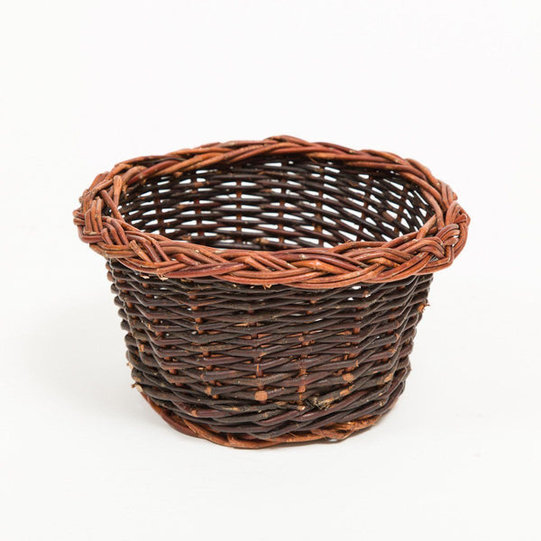 Pot Basket With Rim Detail - Handmade Willow Basket