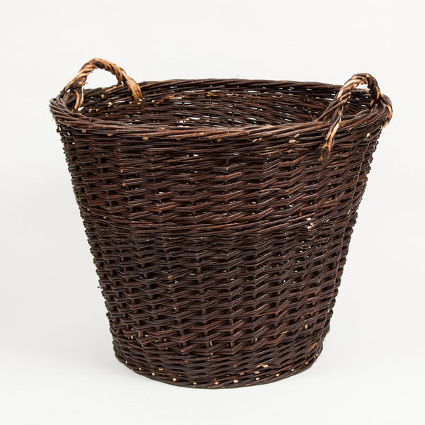 Handmade Willow Baskets - Tall Log Basket | Buy online from Travelling Basket