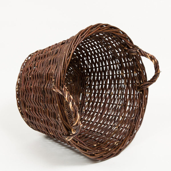 Traditional Log Basket - Handmade Willow Basket