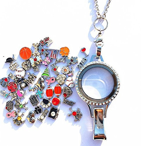 Floating Lanyard w/ 50pcs charms