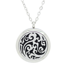 wave cloud essential oil diffuser locket necklace