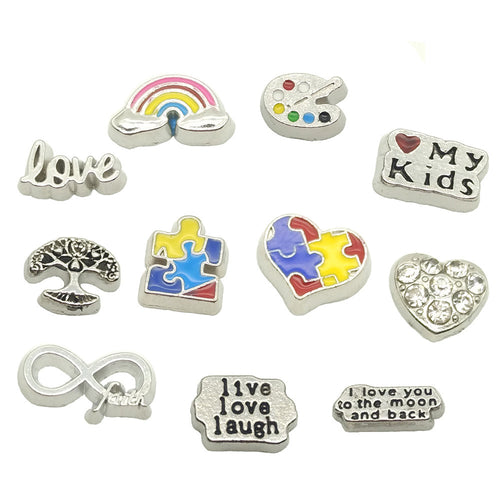 autism awareness floating charms