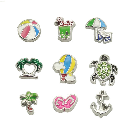 summer holidy beach floating charm