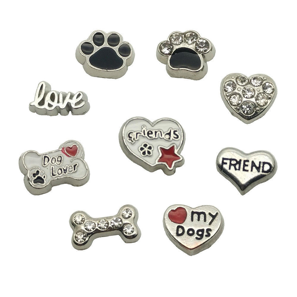dog pet floating charm