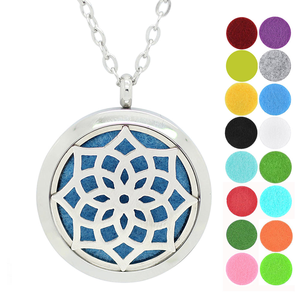 dotiow dream flower aromatherapy essential oil diffuser locket necklace pendant