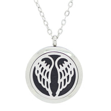 wing aromatherapy essential oil idffuser locket necklace stainless steel pendant