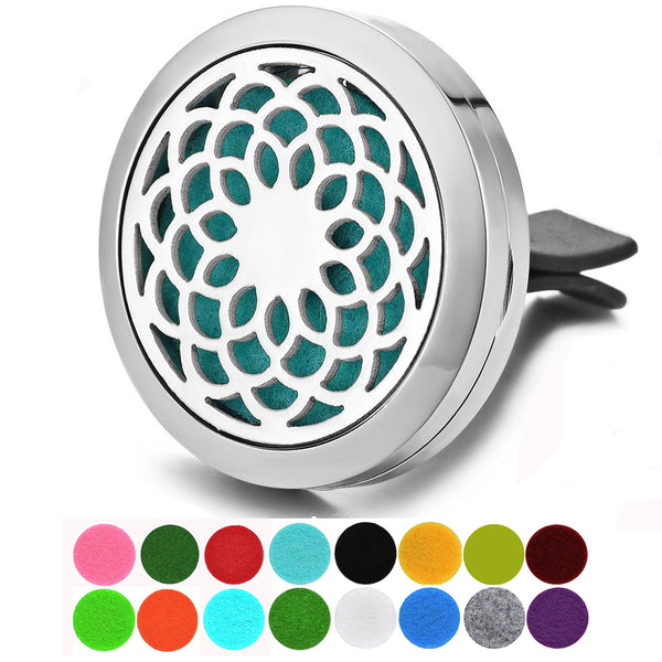 Dotiow aromatherapy essential oil diffuser locket for car