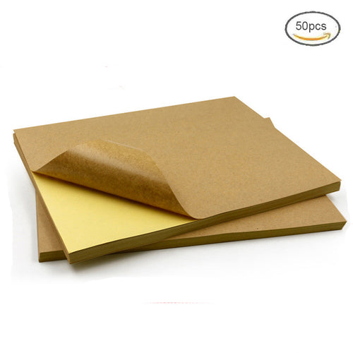 A4 Brown Kraft Paper Adhesive Stickers