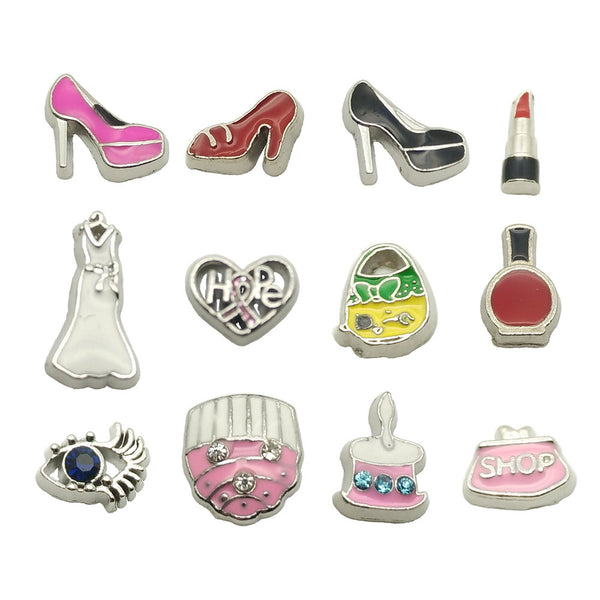 fashion cake wedding high heel floating charms
